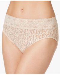 Wacoal - Halo Sheer Lace High-cut Brief 870305 - Lyst