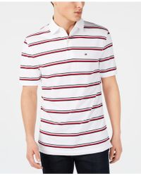 ae28494a043 Tommy Hilfiger Nick Striped Classic-fit Polo in Red for Men - Lyst