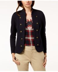 Tommy Hilfiger - Military Band Jacket, Created For Macy's - Lyst