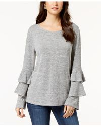 Style & Co. - Tiered-sleeve Top, Created For Macy's - Lyst
