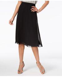 Alex Evenings - Petite Chiffon A-line Skirt, Regular & Petites - Lyst