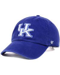 47 Brand - Kentucky Wildcats Ncaa Clean-up Cap - Lyst