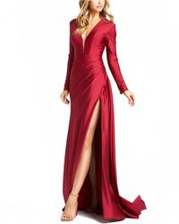 Mac Duggal Side-slit Gown - Red