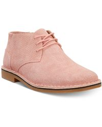 Kenneth Cole Reaction Desert Chukka (blush) Lace Up Casual Shoes - Pink