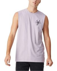 Cotton On Tbar Muscle Tank - Purple
