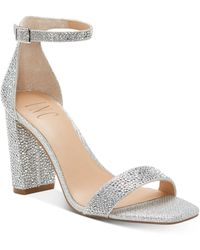 INC International Concepts Lexini Two-piece Sandals, Created For Macy's - Metallic