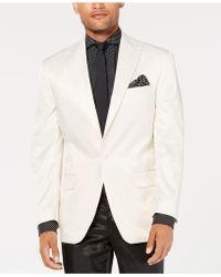 Sean John - Classic-fit White Solid Tuxedo Jacket - Lyst