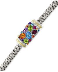 Effy Collection - Effy Multistone Bracelet In Sterling Silver And 18k Gold (3-1/4 Ct. T.w.) - Lyst