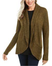 Karen Scott Marled-knit Cardigan, Created For Macy's - Green