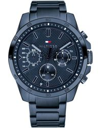 Tommy Hilfiger Blue Stainless Steel Bracelet Watch 46mm, Created For Macy's
