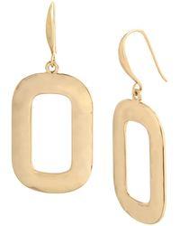 Robert Lee Morris Geometric Drop Earrings - Metallic