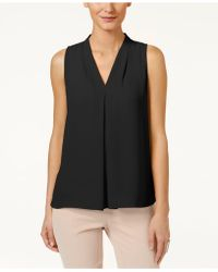 Vince Camuto - Sleeveless Inverted-pleat Blouse - Lyst