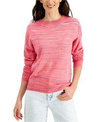 Style & Co. Space-dyed Sweater, Created For Macy's - Pink