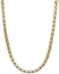 "Macy's 14k Gold Necklace, 20"" Diamond Cut Popcorn Chain (1-5/8mm) - Metallic"