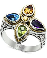 Effy Collection - Effy® Multi-gemstone (1-5/8 Ct. T.w.) Ring In Sterling Silver & 18k Gold - Lyst