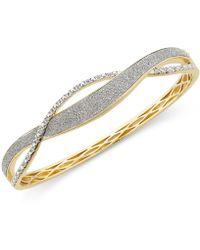 Macy's - Diamond Glitter Twist Bracelet (1/4 Ct. T.w.) In 18k Gold-plated Sterling Silver - Lyst