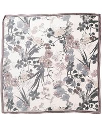 Vince Camuto Botanical Sketch Silk Square Scarf - Multicolor