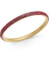 Kate Spade - Gold-tone Pavé Bangle Bracelet - Lyst