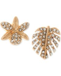 Lonna & Lilly - Gold-tone Pavé Mismatch Stud Earrings - Lyst