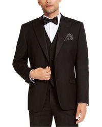 Alfani Classic-fit Stretch Black Tuxedo Jacket, Created For Macy's