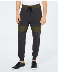 Guess - Roy Colorblocked Mix-media Moto Joggers - Lyst