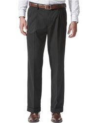 Dockers - Relaxed Fit Comfort Khaki Pleated Pants - Lyst