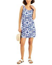 J Valdi Lattice Back Dress Cover-up - Blue