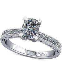 Macy's | Diamond Filigree Mount Setting (1/6 Ct. T.w.) In 14k White Gold | Lyst