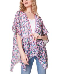 Steve Madden Floral Kimono Coverup - Pink