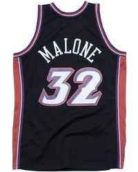 the latest 51121 0ac82 Mitchell & Ness Karl Malone Utah Jazz Gold Collection ...