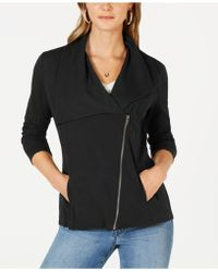 Style & Co. - Ribbed-knit Drape-front Jacket, Created For Macy's - Lyst