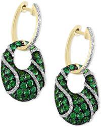 Effy Collection - Effy® Tsavorite (1-7/8 Ct. T.w.) & Diamond (3/8 Ct. T.w.) Drop Earrings In 14k Gold - Lyst