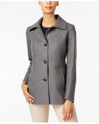 London Fog - Petite Wool-blend Peacoat - Lyst