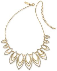 """INC International Concepts Navette Statement Necklace, 18"""" + 3"""" Extender, Created For Macy's - Metallic"""