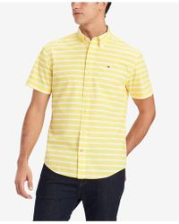 e973200c Tommy Hilfiger Fitzgerald Striped Shirt, Created For Macy's in Blue ...