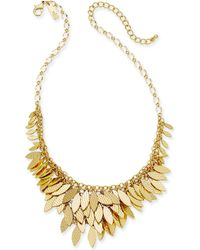 "INC International Concepts - I.n.c. Gold-tone Layered Leaf Statement Necklace, 17"" + 3""extender, Created For Macy's - Lyst"