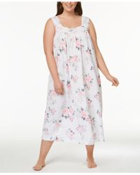 Charter Club - Plus Size Lace-trim Bouquet-print Nightgown, Created For Macy's - Lyst