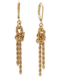 Charter Club | Gold-tone Knotted Rope Chain Drop Earrings | Lyst