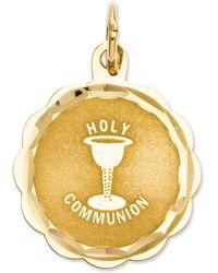 Macy's 14k Gold Charm, Holy Communion Charm - Metallic