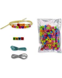 Steve Madden - Tri-color 3-pc. Set Fabric Cord Do-it-yourself Beaded Bracelets - Lyst