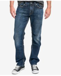 Silver Jeans Co. | Eddie Relaxed Fit Tapered Stretch Jeans | Lyst