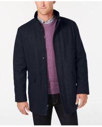 0002c673c284 Lyst - Calvin Klein Plaza Brown Twill Wool-blend Overcoat in Brown ...