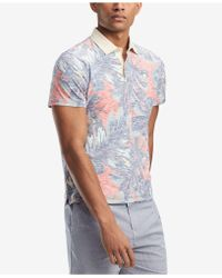 Tommy Hilfiger - Floral Custom Fit Polo, Created For Macy's - Lyst