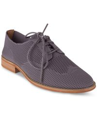 Wanted Babe Knit Oxford Shoes - Grey
