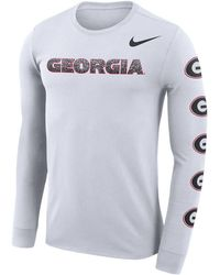 8a17ea1a Nike - Georgia Bulldogs Repeat Logo Long Sleeve T-shirt - Lyst