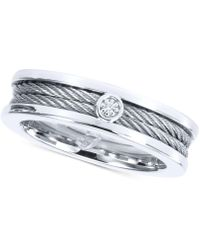 Charriol - Men's Diamond Accent Ring In Stainless Steel - Lyst