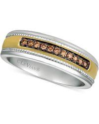 Le Vian Diamond Two-tone Ring (1/5 Ct. T.w.) In 14k Gold & White Gold - Metallic