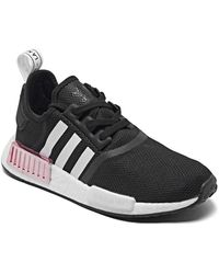 adidas Nmd R1 Casual Sneakers From Finish Line - Black