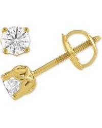 X3 - Certified Diamond Stud Earrings In 18k White Gold (1/2 Ct. T.w.), Created For Macy's - Lyst
