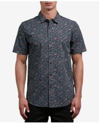 Volcom - Burch Print Button-up Shirt - Lyst